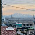 小牧原駅から見えた雪を頂く伊吹山(2019年12月7日)- 1