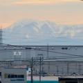 Photos: 小牧原駅から見えた雪を頂く伊吹山(2019年12月7日)- 2