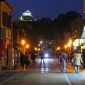 犬山城下町から見た夜の犬山城 - 1