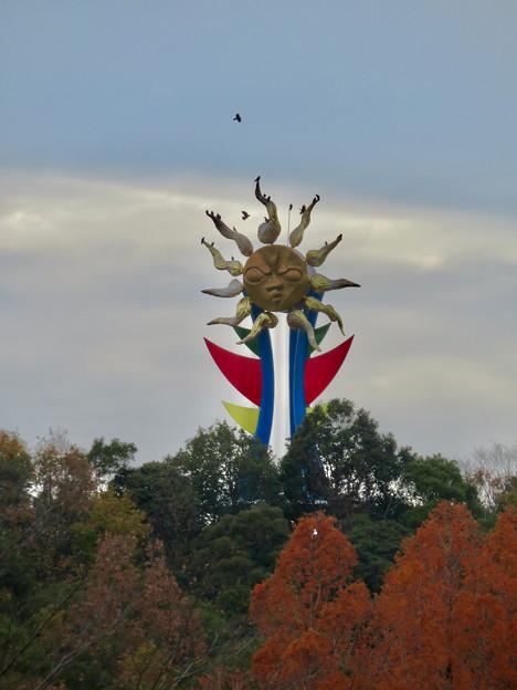 モンキーセンターから見たモンキーパークの「太陽の塔」- 1