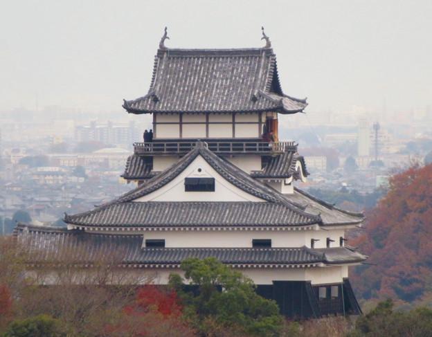 犬山善光寺の開けた所から見えた景色 No - 7:犬山城