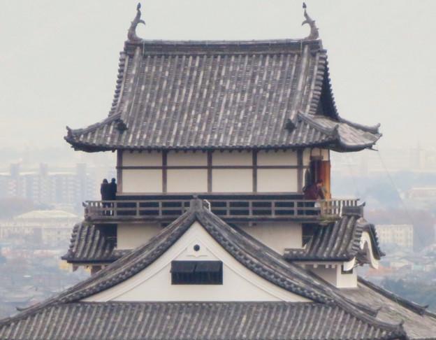 犬山善光寺の開けた所から見えた景色 No - 12:犬山城