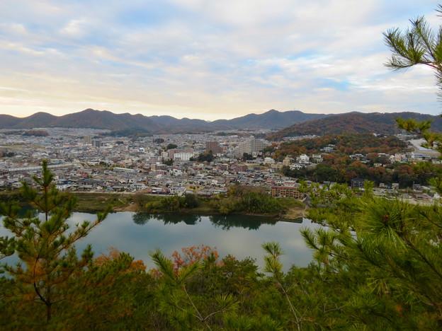 犬山善光寺の展望台から見た景色 No - 3:鵜沼駅方面