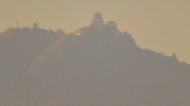 犬山善光寺の展望台から見た景色 No - 11:岐阜城