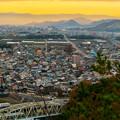 Photos: 犬山善光寺の展望台から見た景色 No - 13:岐阜市方面へと伸びる道路