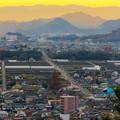 Photos: 犬山善光寺の展望台から見た景色 No - 14:岐阜市方面へと伸びる道路