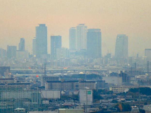 東之宮古墳&神社から見下ろした景色 - 6:名駅ビル群