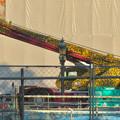 Photos: リニューアル工事中の久屋大通公園にヒョウ柄のクレーン車!? - 1