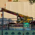 Photos: リニューアル工事中の久屋大通公園にヒョウ柄のクレーン車!? - 3
