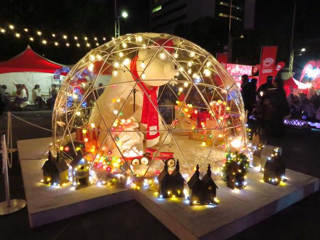 夜の名古屋クリスマスマーケット 2019 No - 3:シロクマのドーム