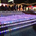 夜の名古屋クリスマスマーケット 2019 No - 25:雪の装飾とイルミネーション