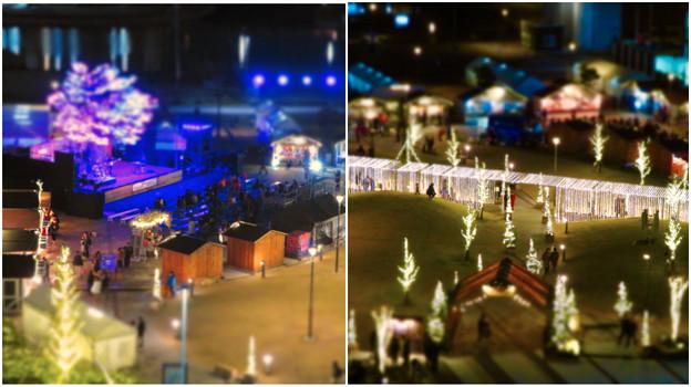 グローバルゲートから見下ろした夜の「ささしまクリスマス」会場(ミニチュアライズ)- 5