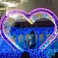 名古屋港水族館入り口のハートの記念撮影スポット - 7