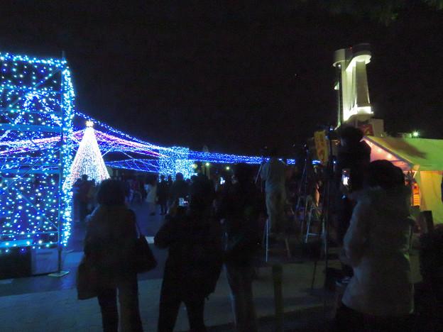 ガーデンふ頭臨港緑園からISOGAI花火劇場の花火を撮影してた人たち - 2