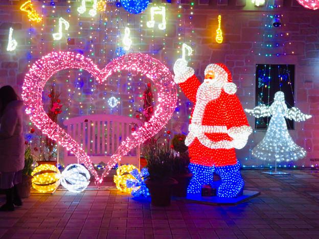 フラリエのクリスマスイルミネーション 2019:サンタとハートのイルミネーション - 3