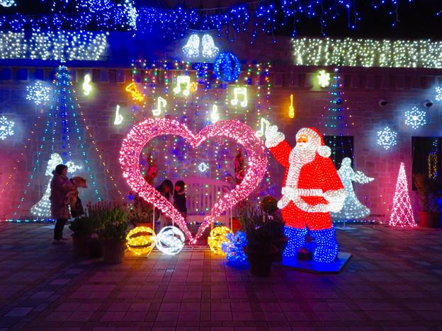 フラリエのクリスマスイルミネーション 2019:サンタとハートのイルミネーション - 5