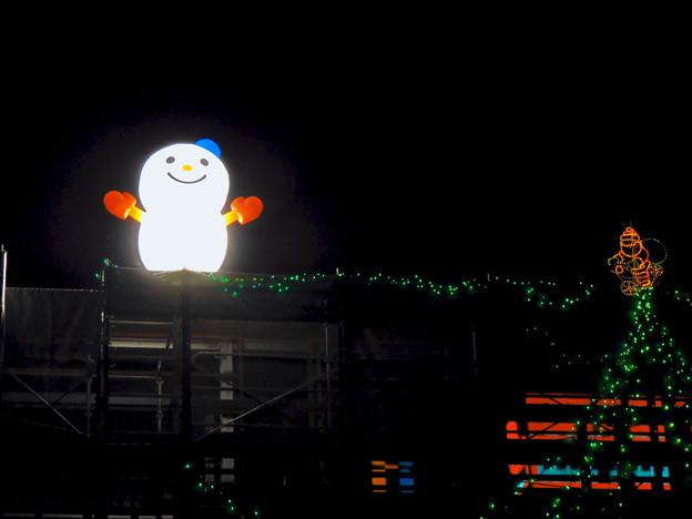 久屋大通公園の工事現場に設置されたクリスマスイルミネーション - 2