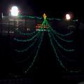 久屋大通公園の工事現場に設置されたクリスマスイルミネーション - 4