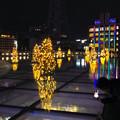 オアシス21:今年のクリスマスイルミネーションは沢山のツリーが並ぶ「ウォーターツリークリスマス」- 3