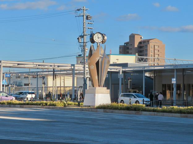 JR春日井駅(2019年12月28日) - 4:駅前の時計塔