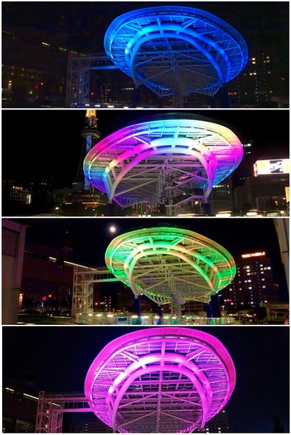 Photos: 様々な色に変化するオアシス21のイルミネーション - 6