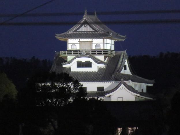 犬山駅から見た夜の犬山城