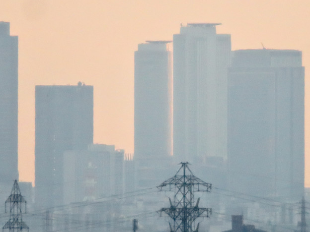 犬山成田山から見た夕暮れ時の名駅ビル群 - 3