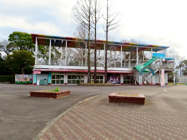 日本モンキーセンター No - 44:元は何かの施設だったと見られる休憩所