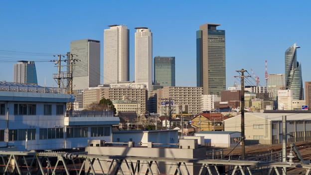 向野橋から見た名駅ビル群(2020年1月)- 4