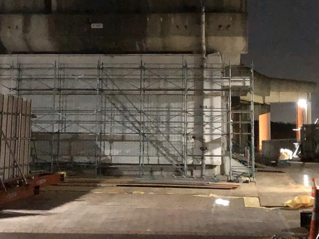 桃花台線の桃花台東駅撤去工事(2020年1月16日):足場の設置開始 - 10