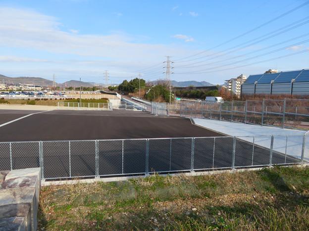 桃花台線の桃花台線南側撤去工事(2020年1月18日):撤去後に出来た空き地