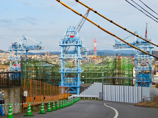 建設中のリニア中央新幹線の非常口(2020年1月18日) - 2