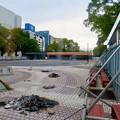 Photos: 栄バスターミナル跡地に建設中の「ミツコシマエ ヒロバス」- 3