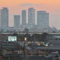 エアポート名古屋から見た夕暮れ時の名駅ビル群 - 3