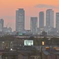 エアポート名古屋から見た夕暮れ時の名駅ビル群 - 5