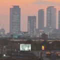 エアポート名古屋から見た夕暮れ時の名駅ビル群 - 6