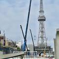 久屋大通公園リニューアル工事(2020年1月25日) - 1:沢山並んだクレーン