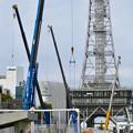 久屋大通公園リニューアル工事(2020年1月25日) - 2:沢山並んだクレーン
