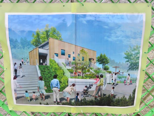 東山動植物園 現在整備工事中のエリア(2020年1月)- 2:ライオン舎横に整備予定の…トイレ?