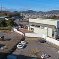 桃花台線の桃花台東駅撤去工事(2020年2月1日) - 1:駅舎の屋根が撤去