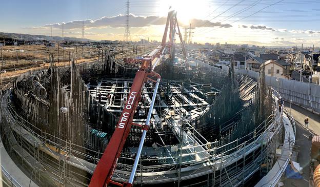 Photos: 建設中のリニア中央新幹線 神領非常口(2020年2月1日) - 8:パノラマ