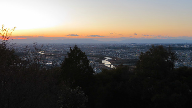 東谷山展望台から見た景色 - 2:夕焼けと庄内川