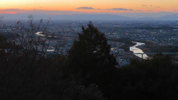 東谷山展望台から見た景色 - 3:夕焼けと庄内川