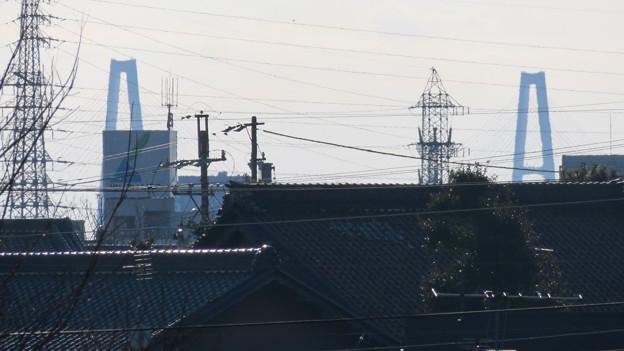 笠寺公園から見えた名港東大橋