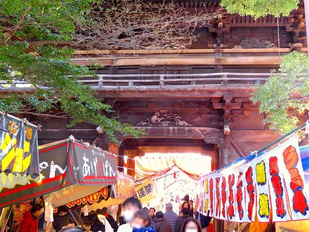 笠寺観音の山門にある猿の彫刻 - 2