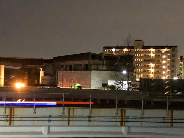桃花台線の桃花台東駅撤去工事(2020年2月7日) - 2:駅舎上部のホーム部分が撤去