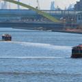 Photos: 中川運河を移動する2艘の水上バス「クルーズ名古屋」の船 - 5