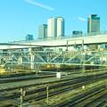 あおなみ線の車内から見た「ささしま米野歩道橋」 - 1