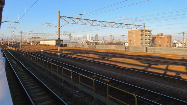 荒子駅から見た名駅ビル群 - 1