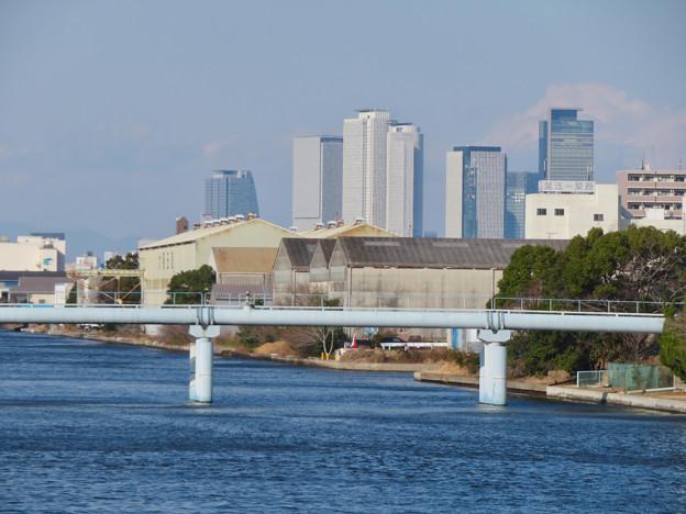 中川運河の東海橋から見た名駅ビル群 - 1
